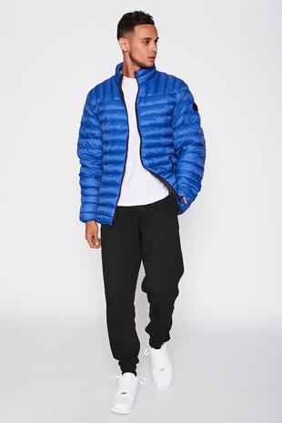 Royal Blue Funnel Neck Jacket