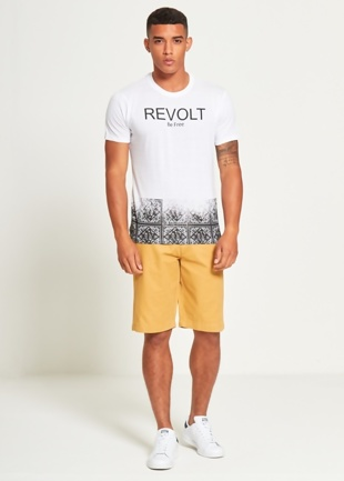 Mens Black Be Free Revolt T-Shirt