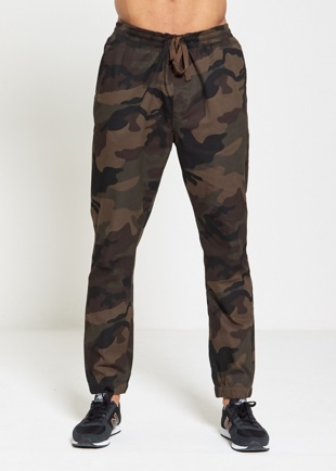 Mens Camo Cuff Twill Trousers