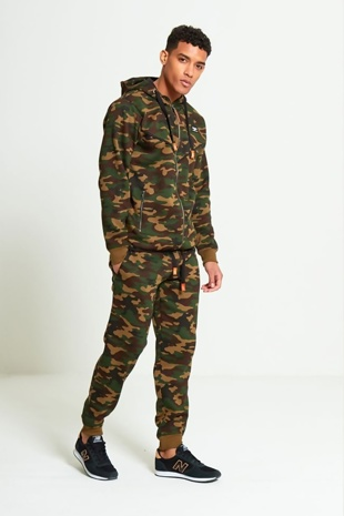 Mens Khaki North Play Camouflage Tracksuit