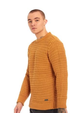 Mens Mustard Thick Knit Jumper