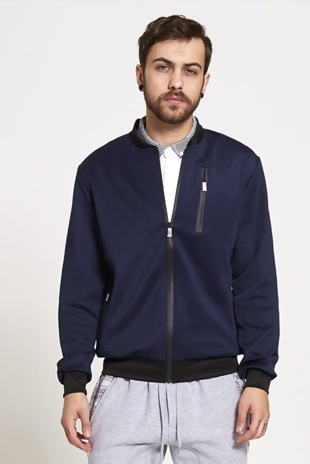 Mens Navy Contrasting Bold Jacket