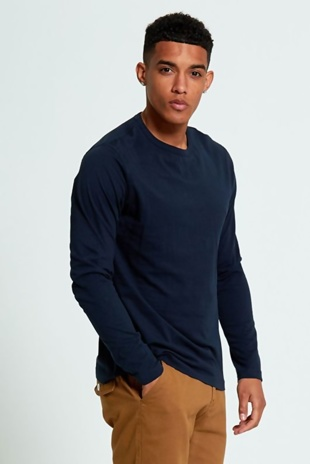 Mens Navy Long Sleeve T-shirt