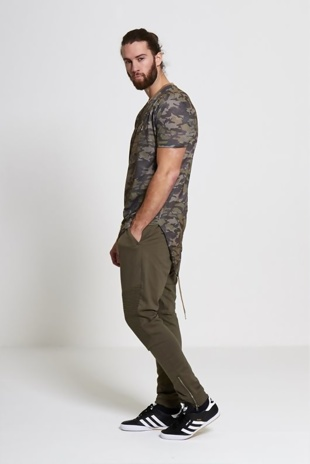 Mens Stone Fish Tail Camo T-Shirt