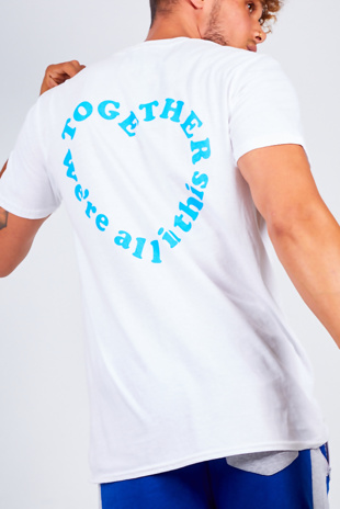 Mens White NHS Together Basic Tee