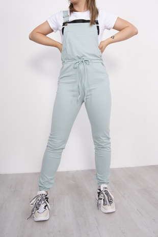 Mint Jersey Dungaree Joggers