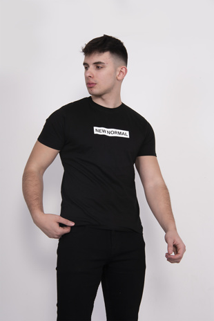 Mens Black New Normal T-shirt