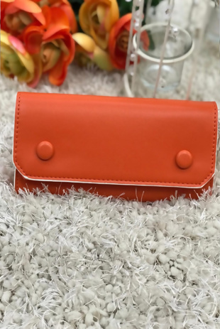 Orange Studded Purse