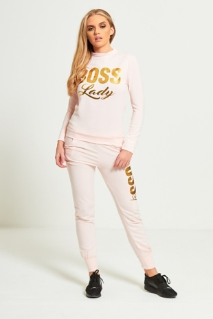Pink Boss Lady Customized Tracksuit