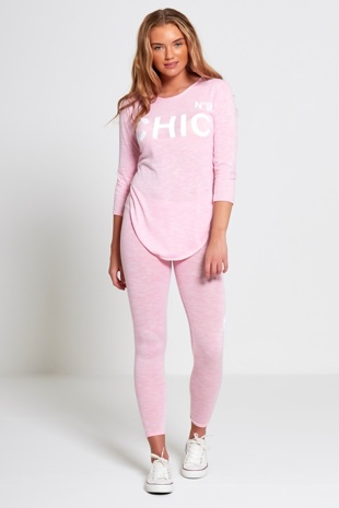Pink Chic Athleisure Loungewear Jogger Set
