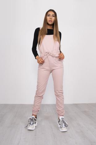 Pink Jersey Dungaree Joggers