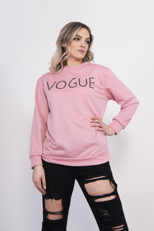 Pink Vogue Slogan Jumper