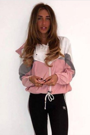 Pink Zip Through Hooded Jacket