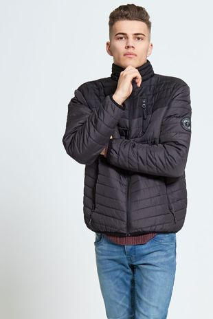 Mens Brave Soul Grey Puffer Jacket