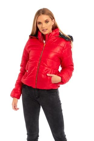 Red Fur Hood Jacket