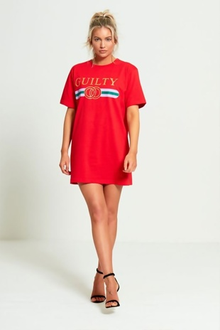 Red Guilty T-shirt Dress