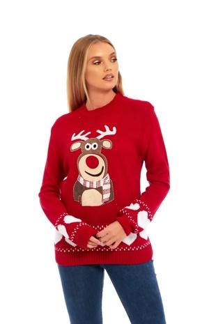Red Rudolf the Reindeer Christmas Jumper