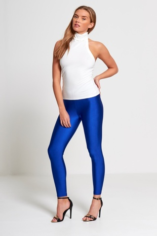 Royal Shiny Disco Leggings