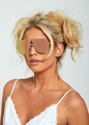 Mirror Effect Aviator Sunglasses