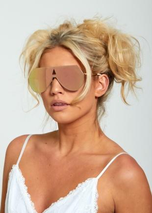 Mirror Effect Aviator Sunglasses