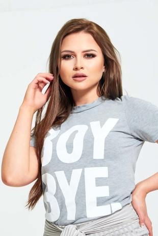 Grey Boy Bye T-Shirt