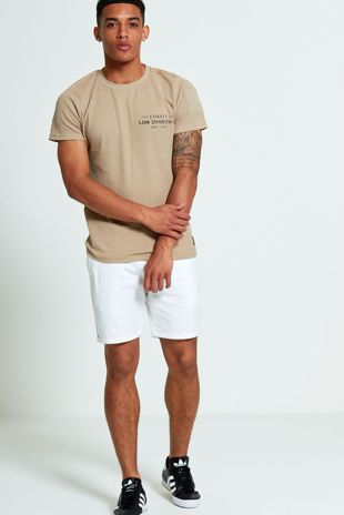 Mens Brave Soul White Chino Shorts