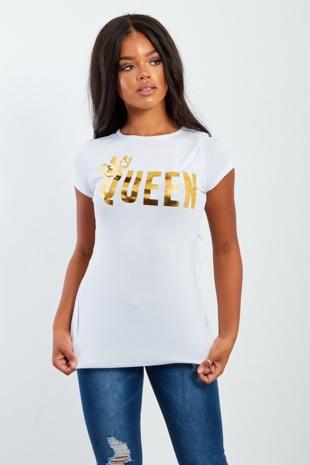 White Queen Printed T-shirt