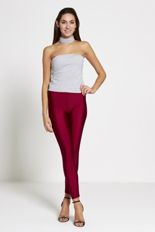 Wine Shiny Disco Leggings