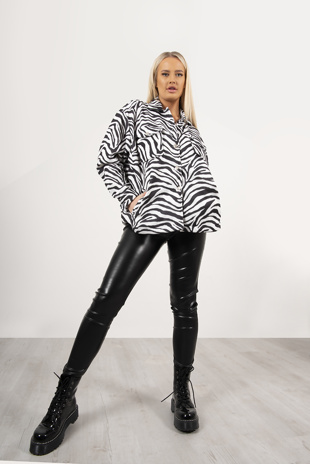 Zebra Print Shacket