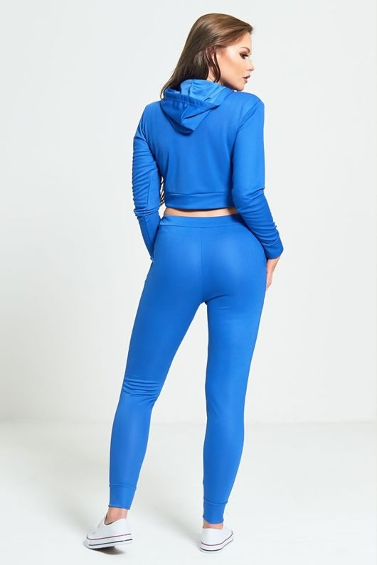 Blue Limited Edition Loungewear Cropped Hoodie
