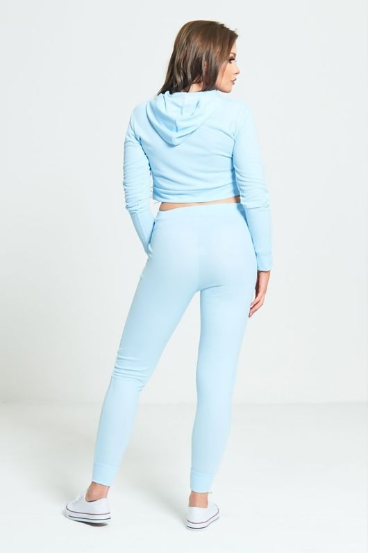 Aqua Limited Edition Loungewear Crop Hoodie