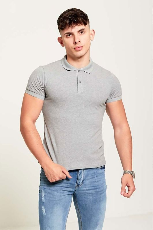 Button Up Muscle Fit T-Shirt