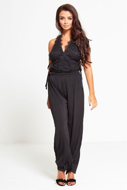 Black Pleated Trouser