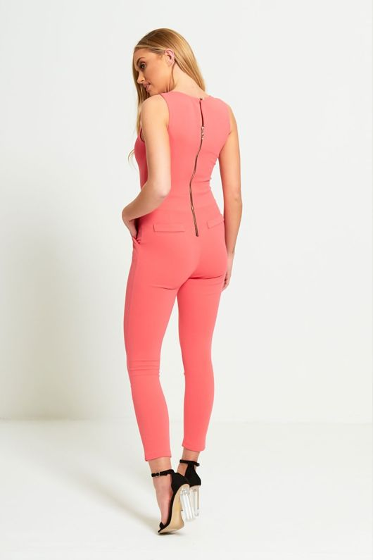 Pink Gold Chain Jumpsuit