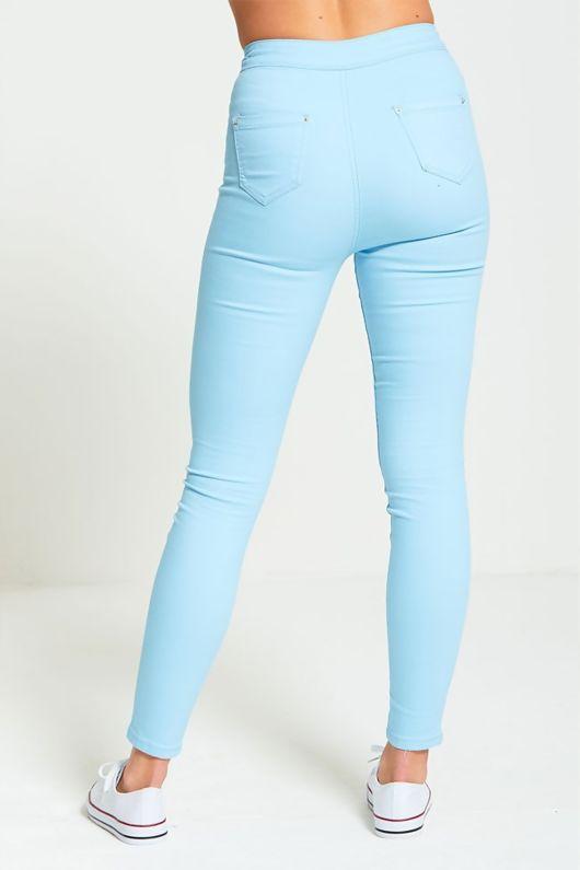 Baby Blue High Waist Skinny Jeans