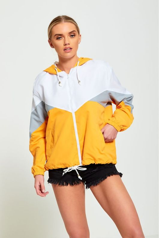 MUSTARD ZIP THROUGH HOODED JACKET-Copy