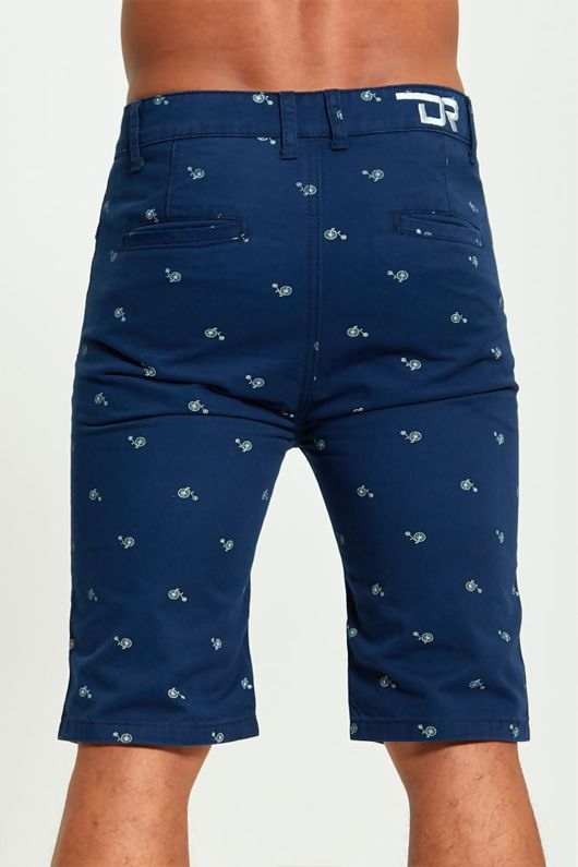 Mens Bicycle Print Chino Shorts