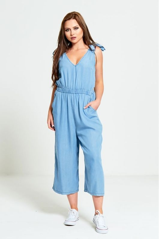 Light Denim Wash Jumpsuit
