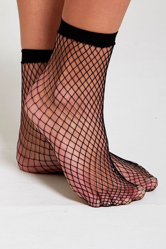 Black Fishnet Socks
