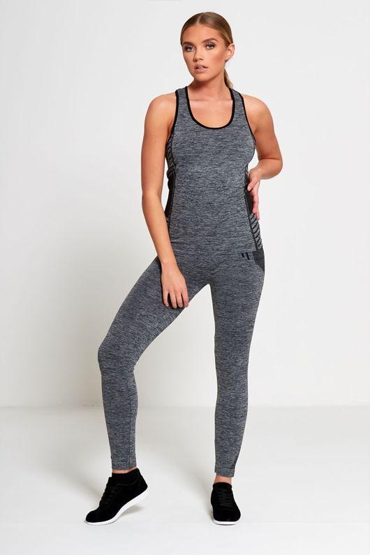 Black Sports Stripe Activewear Top