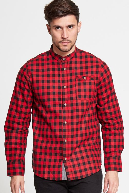 Red and Black Mini Checked Shirt