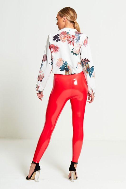 Floral Wrap Front Bodysuit