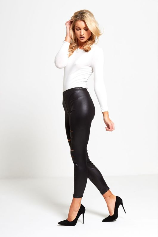 Extreme Ripped Wet Look Leggings