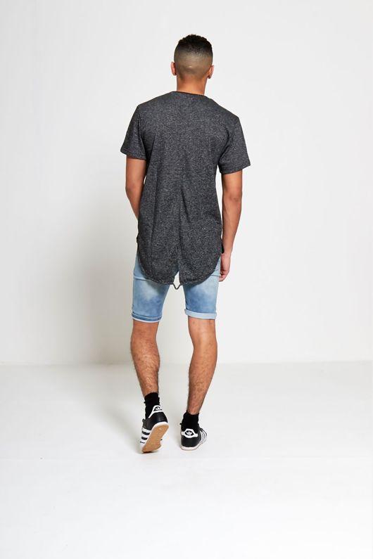 Charcoal Marl Fishtail T-shirt