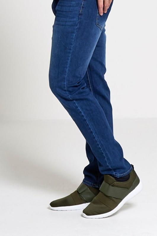 Mens Khaki Velcro Neoprene Strap Trainers