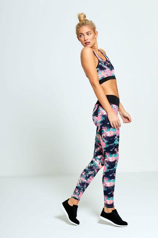 Multicolour Printed Activewear Crop Top