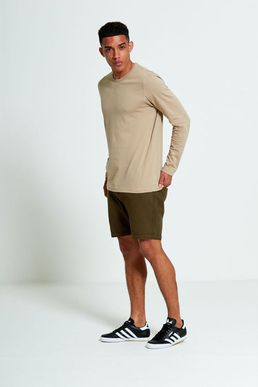 Brave Soul Long Sleeve Mocha T-shirt