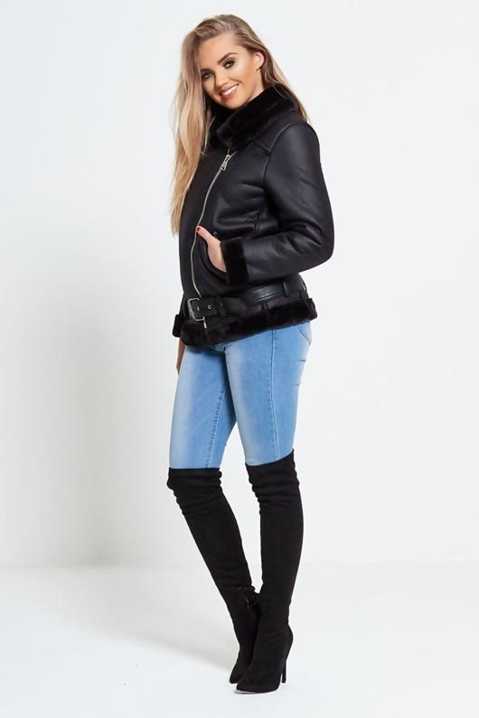 Black Aviator Jacket