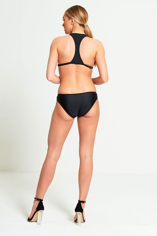 Black Bikini With Contrasting Red Panels-Copy