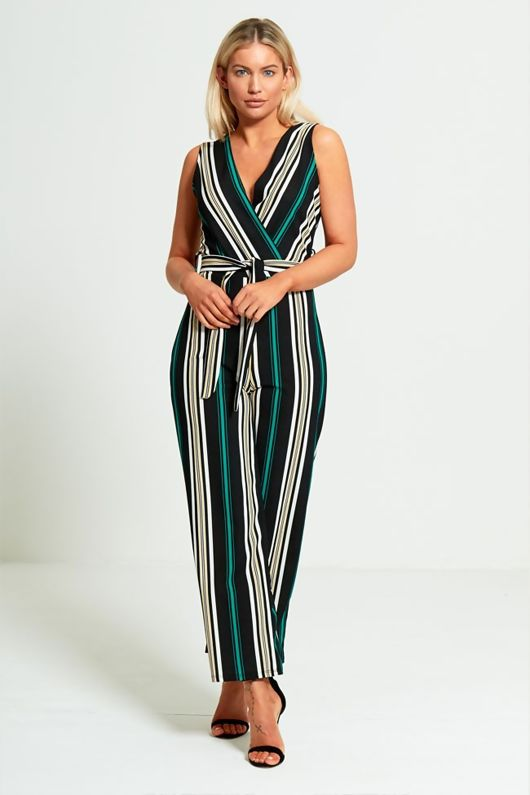 Striped Culotte Jumpsuit